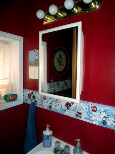 BEFORE: OUR DOWNSTAIRS BATHROOM